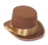 Steampunk Brown Bell Topper Hat
